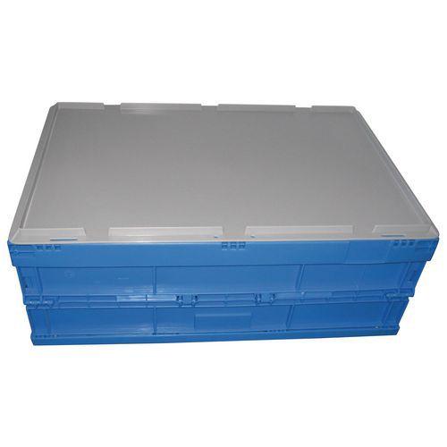 Deksel voor vouwkrat blauw - 600 x 400 mm