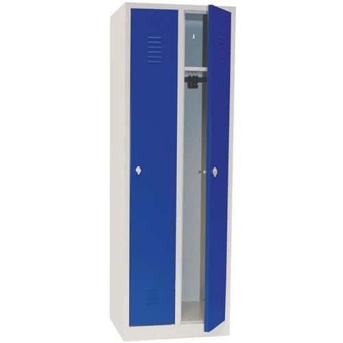 Garderobekast lichte industrie - Met sleutel - Breedte 300 mm - Op sokkel - Manutan
