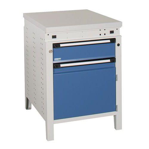 Werkbank function 60 met kast en lade ergo kind manutan - Console ingang kast lade ...