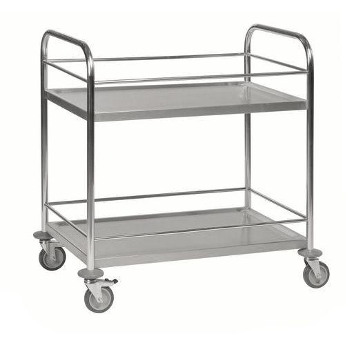 RVS trolley met 2 plateaus KM60357