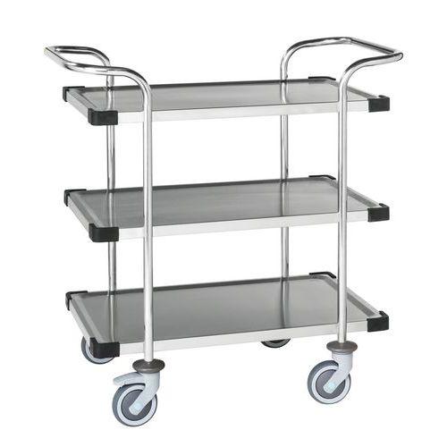 RVS trolley met 3 plateaus KM60365