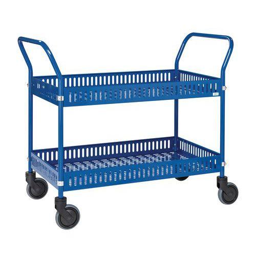Plaatstalen trolley met rand