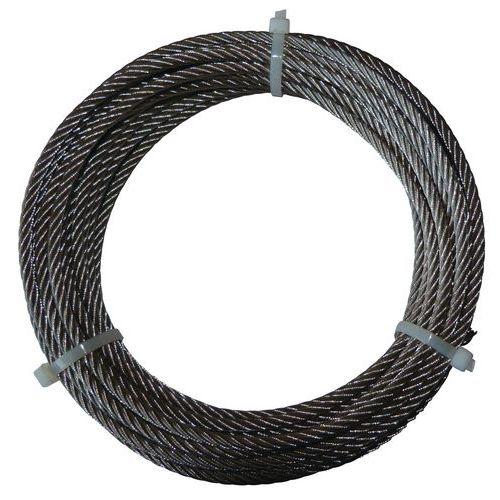 Kabel van gegalvaniseerd staal op haspel - 12 meter