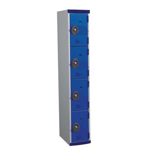 Garderobekast 4 vakken Seamline Optimum® - kolombreedte 300 mm - Acial