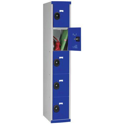 Garderobekast 5 vakken Seamline Optimum® - 1 kolom breedte 300 mm - Op voet