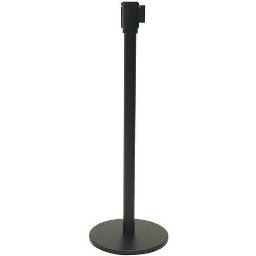 Zwarte paal met band - 5m - Manutan