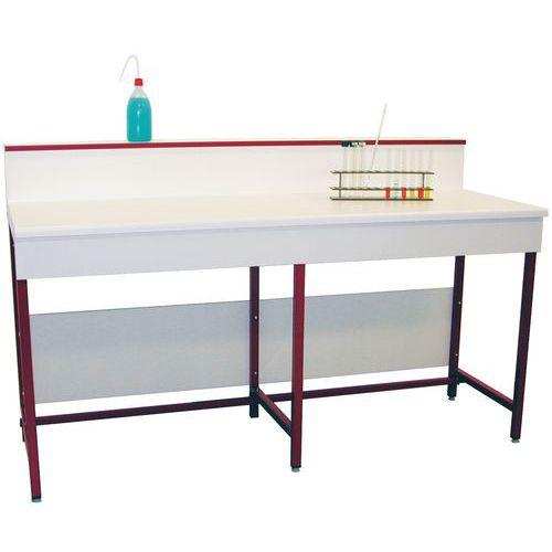 Modulaire labtafel - Gelamineerd - Met muurplaat
