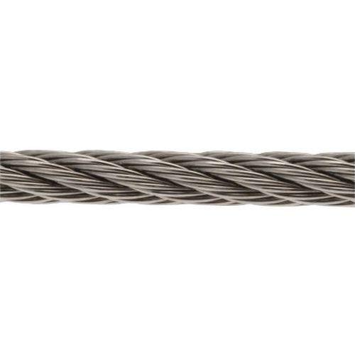 Extra meter voor hijsband van rvs staalkabel met 1 streng EG - Hefvermogen 200 tot 3200 kg