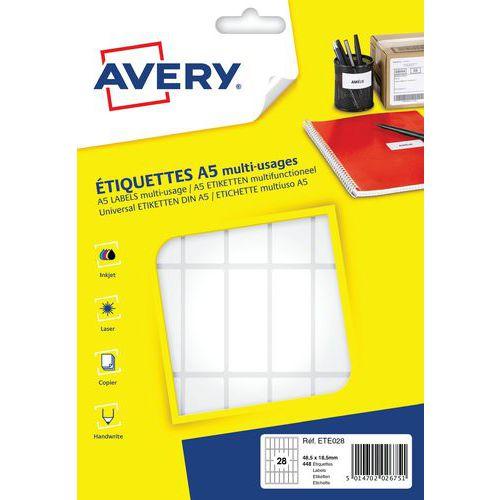 Afbeelding van Zelfklevend papieren etiket voor verschillende ondergronden