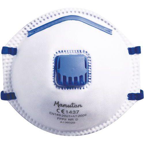Opvouwbaar halfgelaatsschelpmasker voor eenmalig gebruik FFP2 - Manutan - Set van 2 + 1 gratis