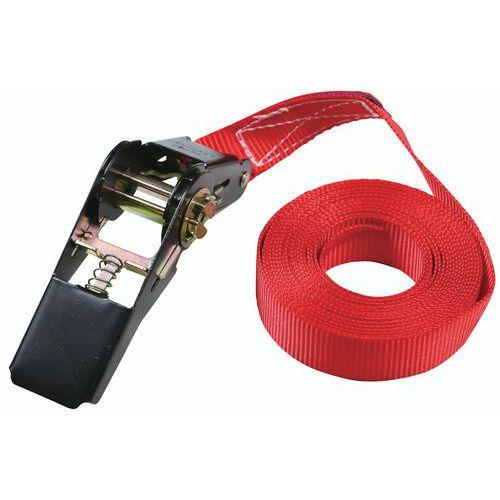 Sjorband - Belasting 350 kg - spanner met ratel - Manutan