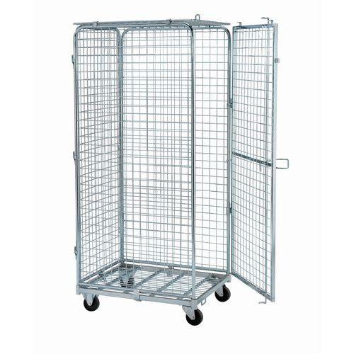 Antidiefstal rolcontainer - Stalen basis - Draagvermogen 400 kg