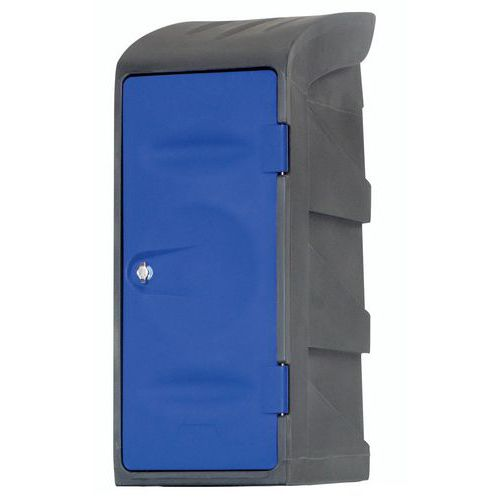 Garderobekast halfhoog kunststof - Op sokkel - Met stofkap en legplank - EMP