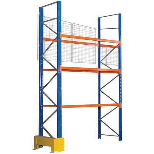 Stelling voor pallets Easy-Rack met valbeveiligingsrooster
