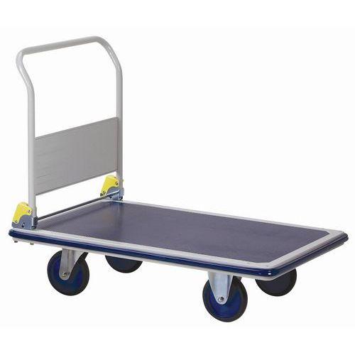 Metalen plateauwagen met neerklapbare rug - Draagvermogen 500 kg