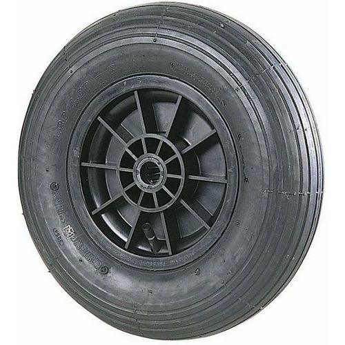 Wiel met groeven voor steekwagen met glijlager - Draagvermogen 75 tot 250 kg