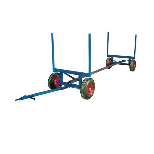 Uitschuifbare wagen voor lange materialen - Laadvermogen 3500 kg