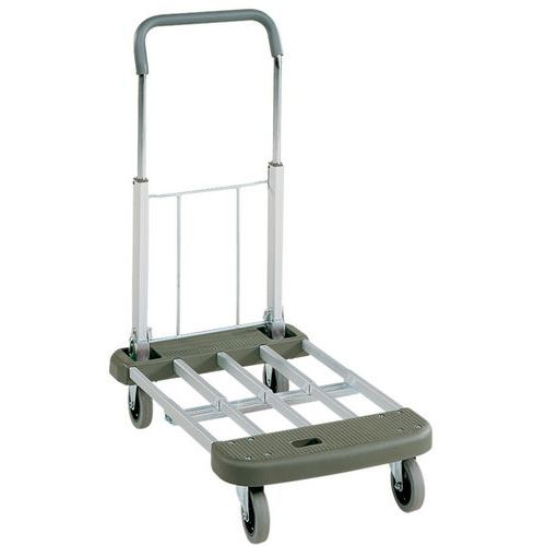 Inklapbare wagen van aluminium en kunststof - draagvermogen 150 kg
