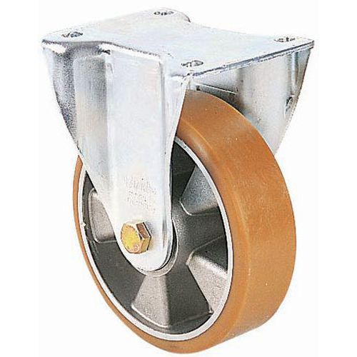 Afbeelding van Bokwiel met plaat - draagvermogen 180 tot 900 kg