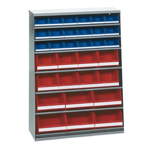Kast met 40 stapelbakken - Laag - Zonder deur