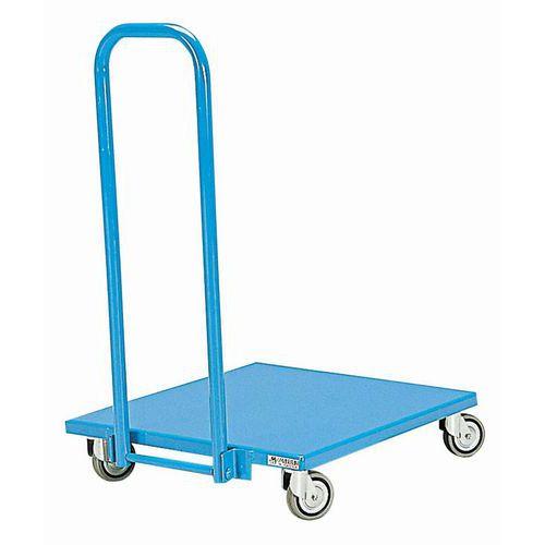 Metalen wagen met neerklapbare rug - Draagvermogen 150 kg