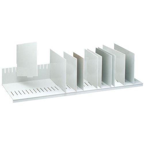 Sorteerrek met verwijderbare tussenschotten voor kasten - Grijs - Paperflow