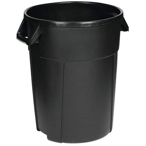 Ronde container - Zwart - Manutan