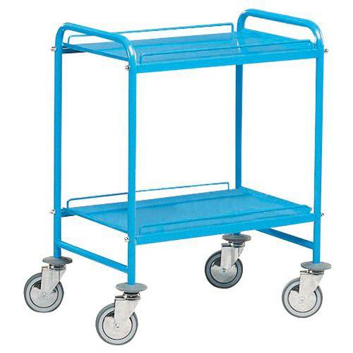 Transportwagen met metalen legborden - 2 legborden - Draagvermogen 150 kg