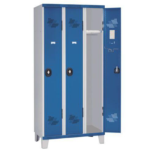 Afbeelding van Garderobekast 3 kolommen Seamline Optimum® - Kolombreedte 300 mm - Op poten