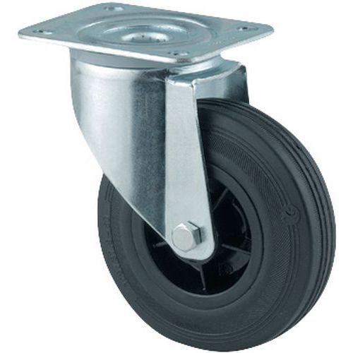 Zwenkwiel met grondplaat - Draagvermogen 70 tot 295 kg