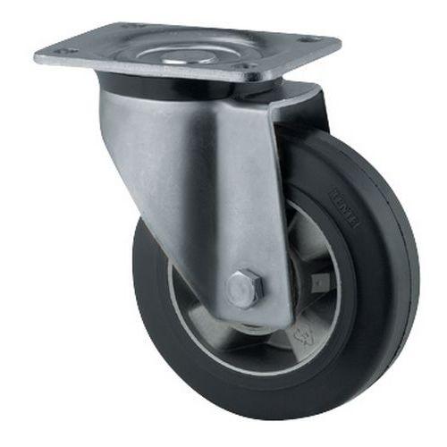 Zwenkwiel met grondplaat - draagvermogen 200 tot 450 kg