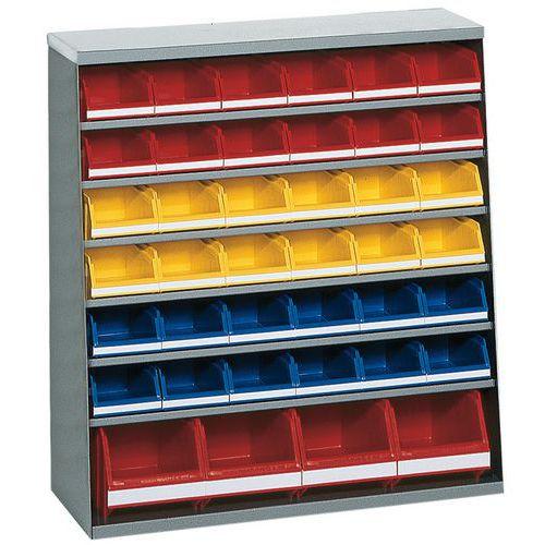 Kast met 32 stapelbakken - Laag - Zonder deur