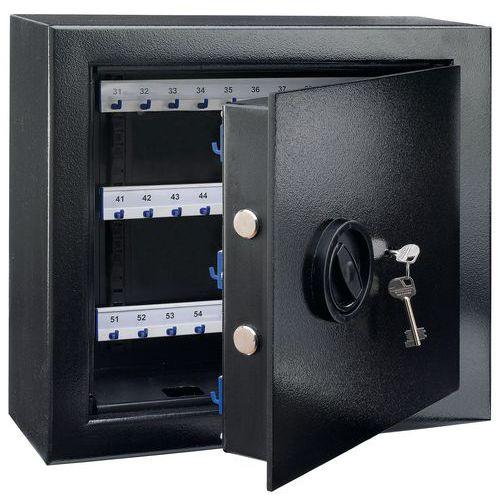 Afbeelding van Zeer veilige zwarte sleutelkast - Met sleutelslot