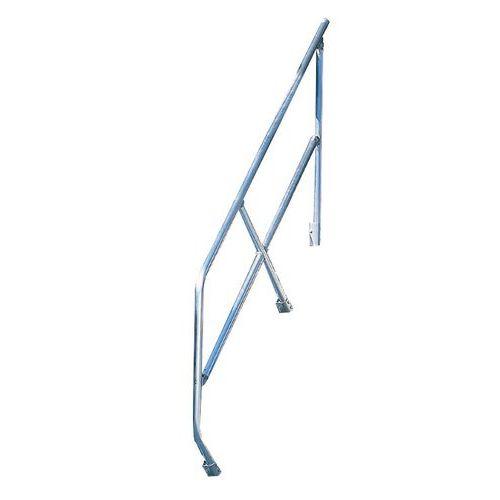Tweede leuning voor trap met hellingshoek 45 breedte for Trap hellingshoek