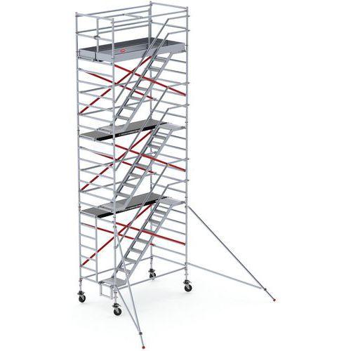 Steiger aluminium met trapdelen RS TOWER 53