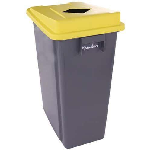 Afvalbak voor afvalscheiding 60 of 80L inclusief deksel - Manutan