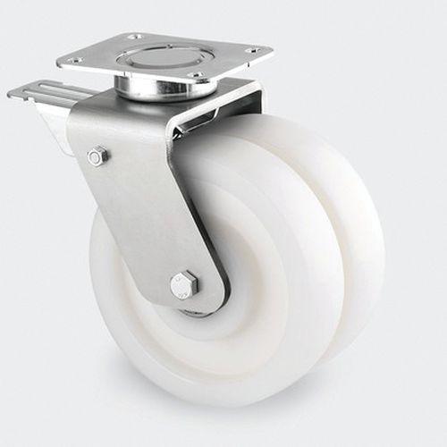 Zwenkwiel, nylon - stat.draagverm. 1200-1500 kg - serie 9940
