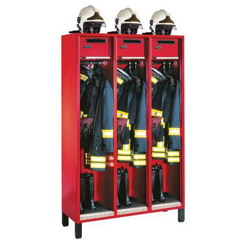 Brandweerkledingkast S3000 Evolo - 1 tot 3 kolommen breedte 400 mm - Op poten