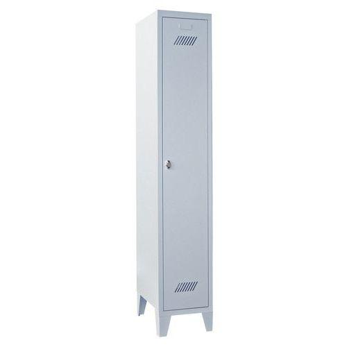 Garderobekast Medium 300 - Op poten - Schone industrie - Hangslothouder - 1 kolom