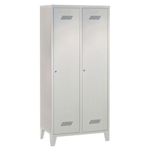 Garderobekast Medium 400 - Op sokkel - Schone industrie - Cilinderslot - 2 kolommen