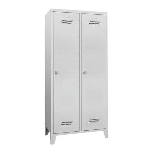 Garderobekast Medium 400 - Op poten - Schone industrie - Hangslothouder - 2 kolommen