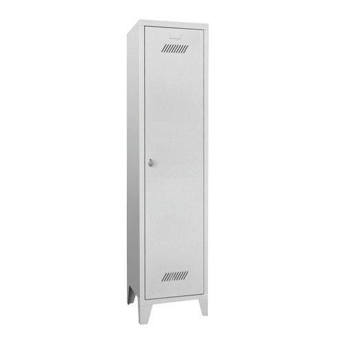 Garderobekast Medium 400 - Op poten - Schone industrie - Hangslothouder - 1 kolom