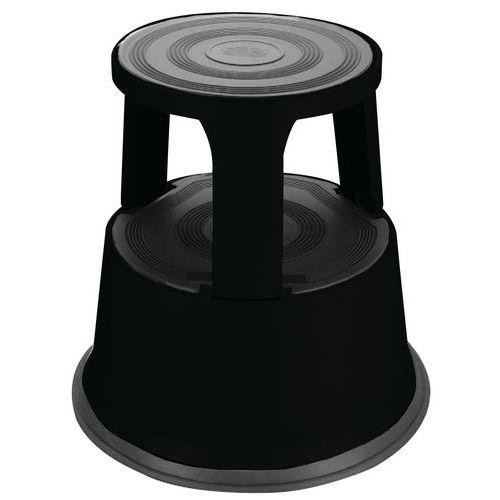 Verrijdbaar opstapkrukje staal - 2 treden - Manutan