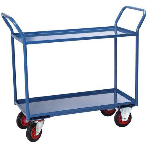 Gereedschapswagen met 2 plateaus - laadvermogen 400 kg