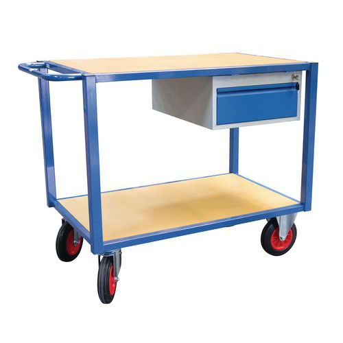 Werkplaatswagen 2 plateaus - Laadvermogen 500 kg