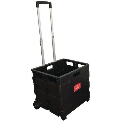 Trolley met vouwkrat - draagvermogen 35 kg