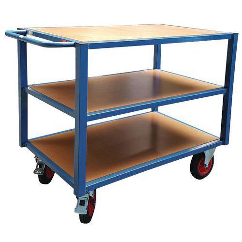 Werkplaatswagen 3 plateaus - Laadvermogen 500 kg