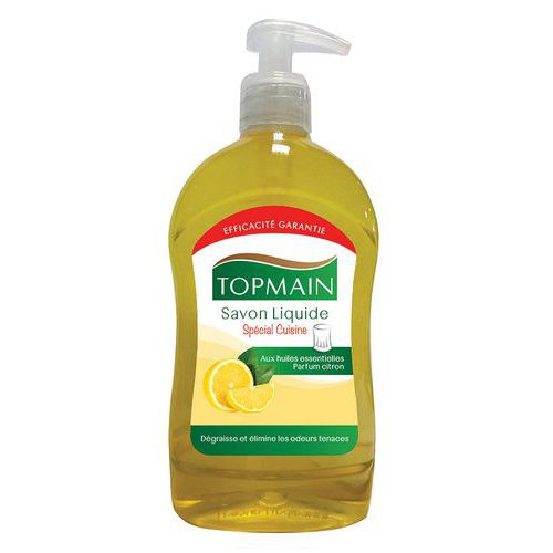 Vloeibare keukenzeep Topmain citroen - flacon met pomp 500ml
