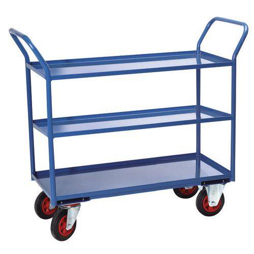 Gereedschapswagen met 3 plateaus - laadvermogen 400 kg