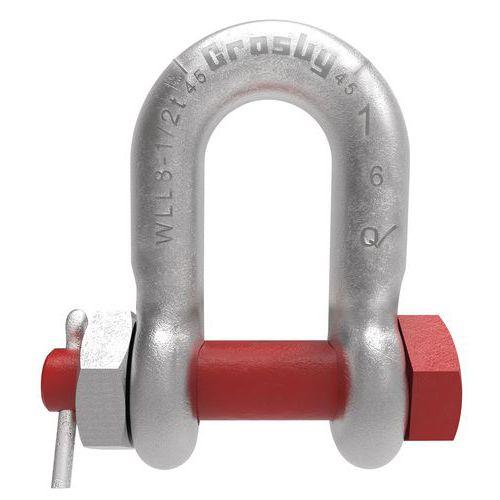 D-sluiting met pen en bout Crosby - draagvermogen 1000 tot 17.000 kg